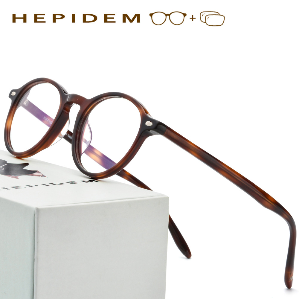 Acetate Prescription Glasses Frame Men Oliver Women Round Spectacles Vintage People Johnny Depp Full Optical Eyeglasses Eyewear acetate prescription glasses frame men oliver full round spectacles fors women peoples optical nerd myopia wood grain eyeglasses