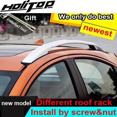 Chaude bagages de toit barre de toit rail de toit pour Honda HR-V VRC X-RV Vezel 2014-2018, deux modèles, installer par vis au lieu de colle