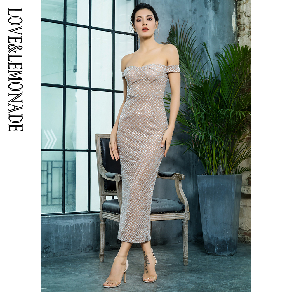 ... Buy Love Lemonade Sexy Off the Shoulder Open Back Plating Glue Material  Party Dress LM81349SILVER from Reliable Dresses suppliers on LOVE LEMONADE  Store 9da567b4301f