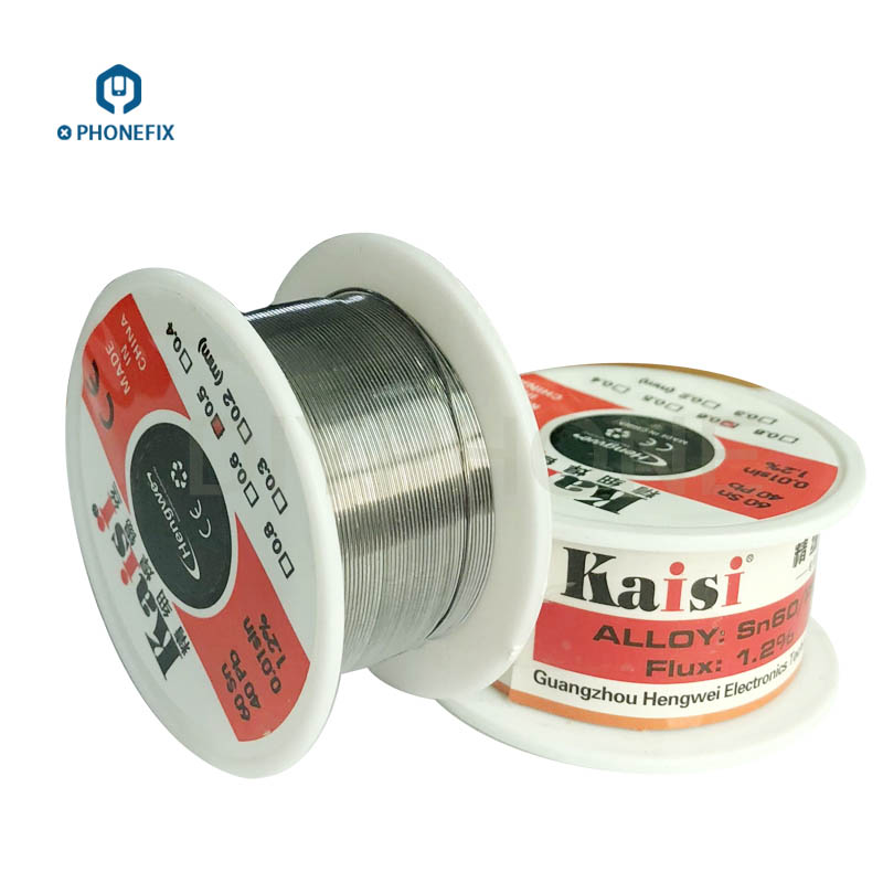 High Purity Solder Tin Wire Tin Solder For Phone Circuit Board Repair Low Melting Point Soldering Tin Wire 0.3 0.4 0.5 0.6mm