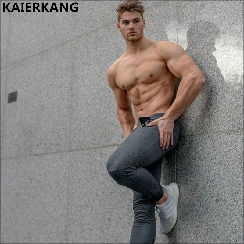2018 Bodybuilding Men sportswear Pants Casual Elastic cotton Men Fitness Workout Pants skinny Sweatpants Trousers Jogger Pants