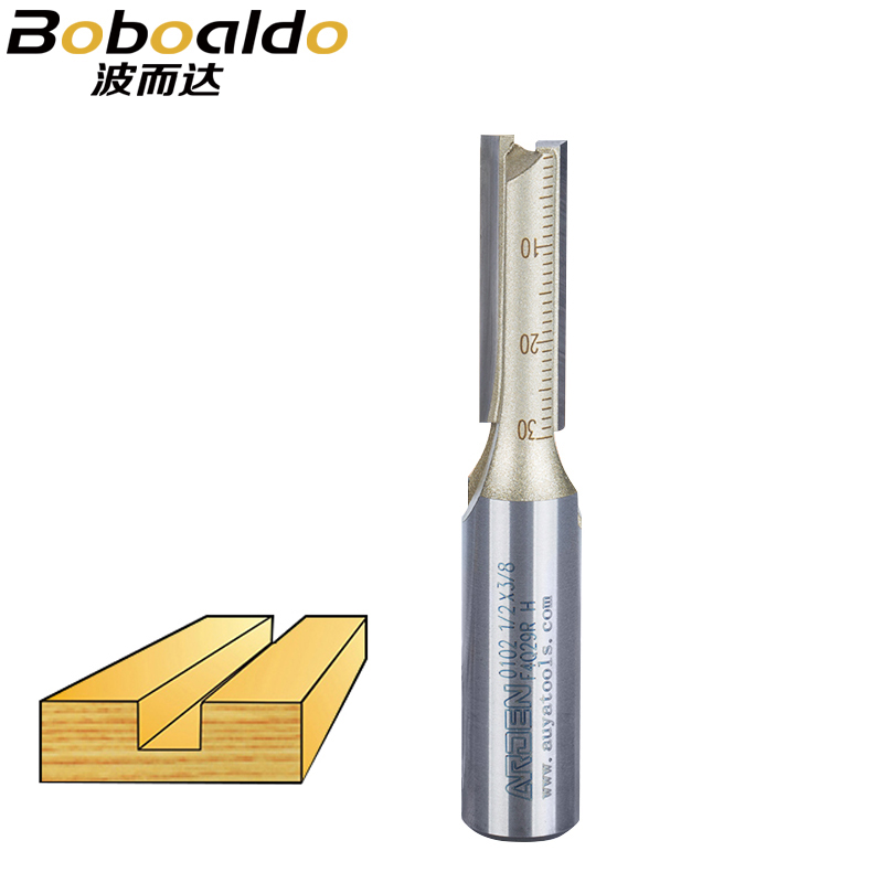 1pcs Double Flute Lengthen Straight Bit Arden Woodworking Tools Router Bit Endmill Slotted Knife Metric Milling Cutter