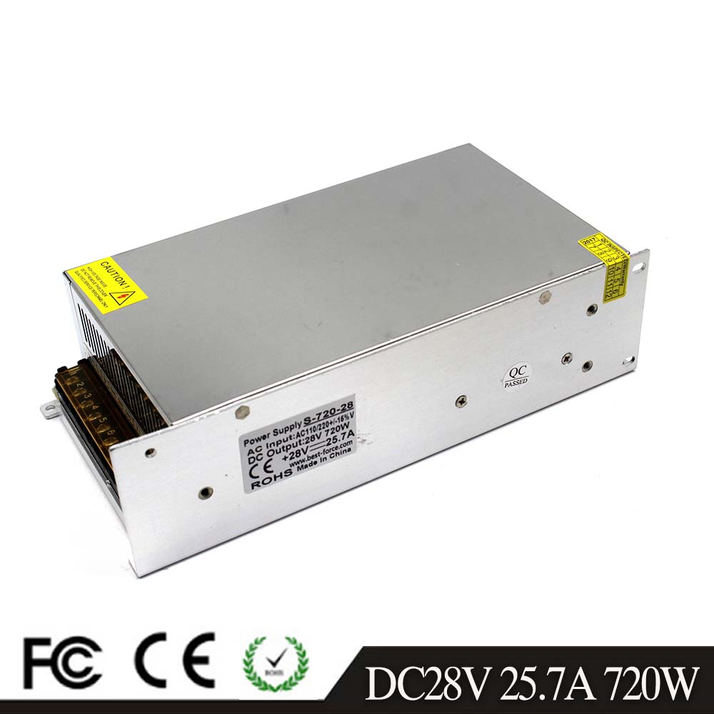 Small Volume Single Output 720w 28v 25 7a Adjustable