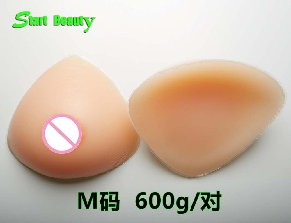 ФОТО 600g/pair Silicone Breast Forms  Fake Boob Ttis Enhancer Pad Crossdresser Bra Insert B Cup mastectomy Freetransvestite Shipping