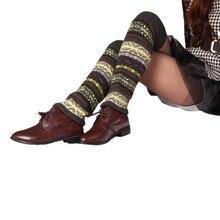 Недавно гольфы женские ботинки Носки для девочек до колена в богемном стиле зимние вязаные Гетры для девочек Сапоги и ботинки для девочек гетры Акрил Шерсть Chaussette # или