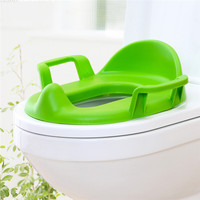 1 Adet Muticolors Plastik çocuk Tuvalet Destekli Olacak Bebek Tuvalet Koltuk Tuvalet Yıkayıcılar Lazımlık Eğİtİm Seat Mavi/yeşil/Hotpink