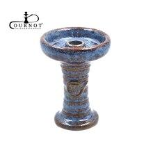 1X Ceramic One hole Phunnel Bowl Hookah head shisha bowl ferris bowl+1X Double Handle Charcoal holder