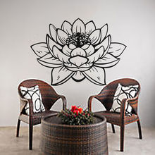 Wall Decals Removable Vinyl Lotus Flower Art Pattern Sticker Yoga Studio Decoration Mural Poster AY764
