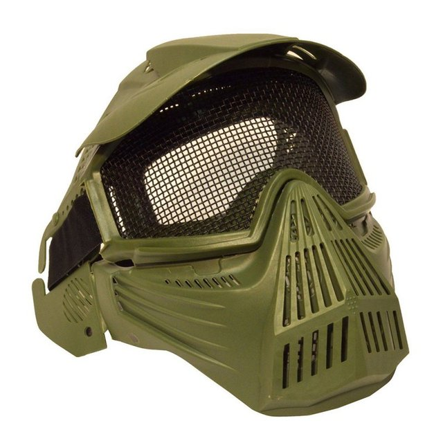 Outdoor Motorcycle Cycling Protection Mask Tactical Airsoft Safety Metal Mesh Goggles Full Face Mask