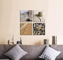 Framed 4 Panels Romantic Beach Theme 4 Piece Modern Giclee Artwork Sea Beach Ocean Canvas Prints Contemporary Abstract Seascape(China)