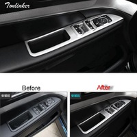 Tonlinker Cover Case Stickers For FORD Explorer 2013 17 Car Styling 4 PCS ABS Chrome Interior
