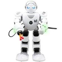 все цены на RC Robot Alpha K1 Intelligent  Mechanical Robot Smart Programming Humanoid Robot Toys Demo Singing Dancing Kids Educational Gift онлайн