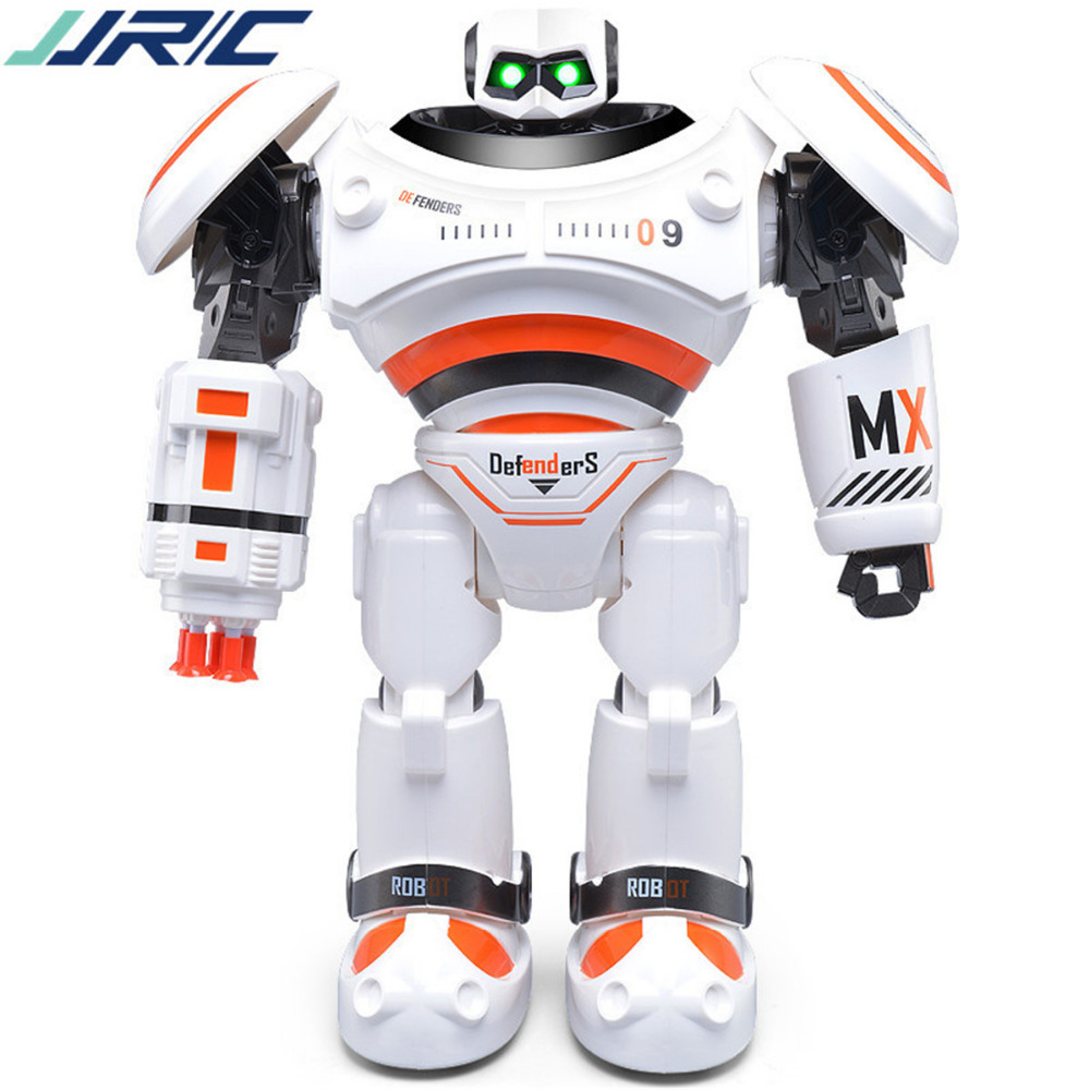 Action Toy Figures RC Robot R1 Charging Programmable Defender Intelligent  Remote Control Toy Dancing for Kids Birthday Gift Pre jjrc r3 rc robot toys intelligent programming dancing gesture sensor control for children kids f22483 f22483