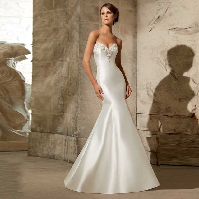 Romantic Bridal Gown Sweetheart Beading White Floor Length