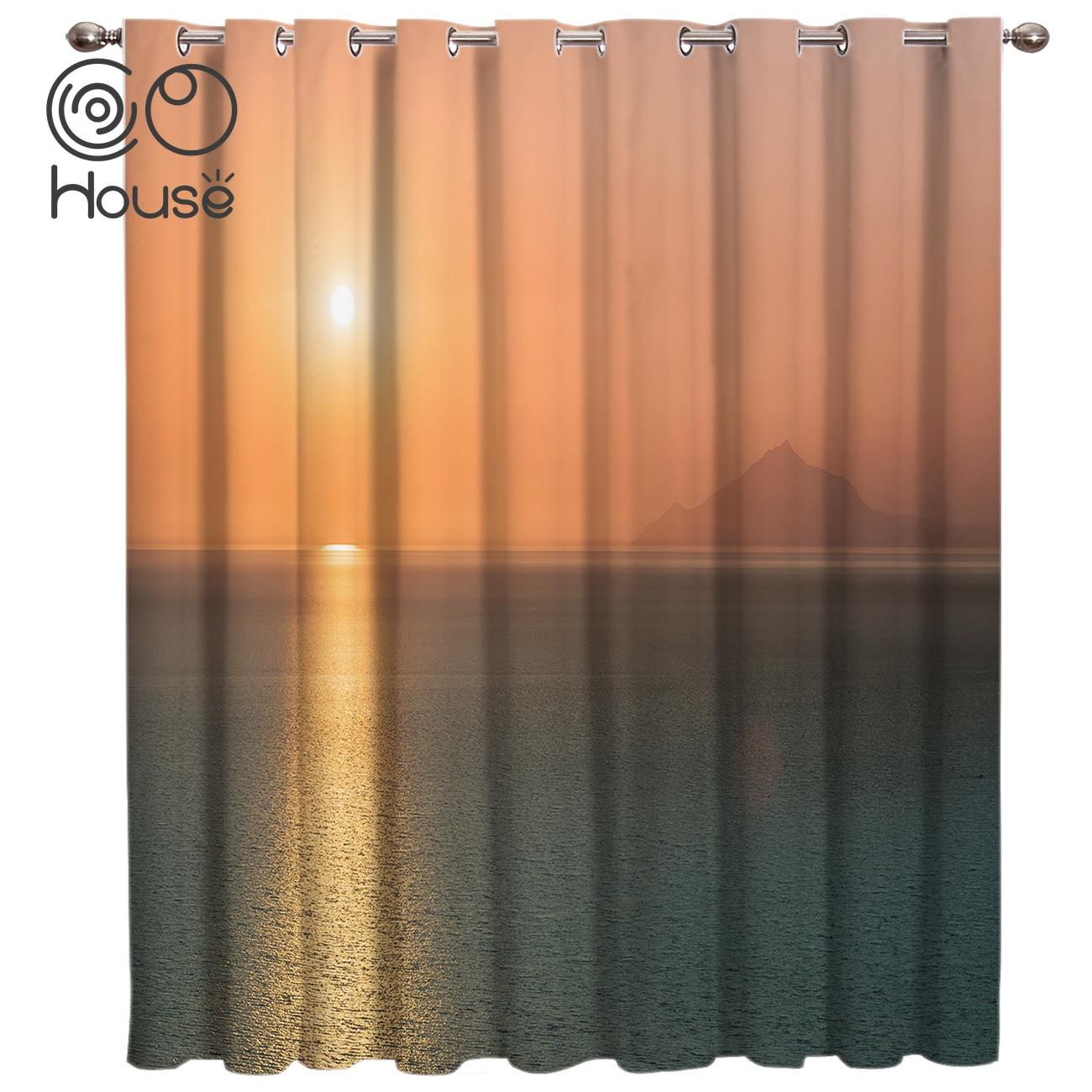 Horizon Sunrise Sunshine Window Treatments Curtains Valance Curtain Rod Bathroom Blackout Curtains Outdoor Kitchen
