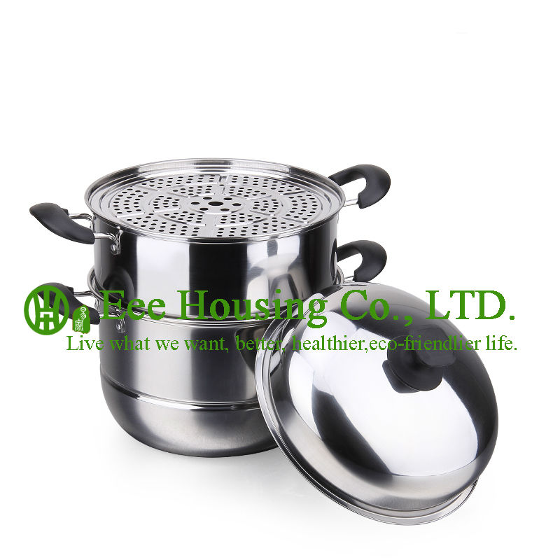Stainless Steel Cooking Cookware Kitchenware Set Free Shipping Manufactuer In China Cooking Pot,steamer Pot Kitchen