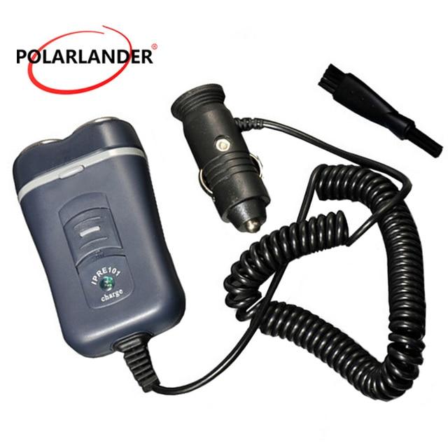 Coche nuevo afeitar eléctrica para automóvil portátil barba 2 cuchillas 12  V-24 V Dual e94ba62f8f76