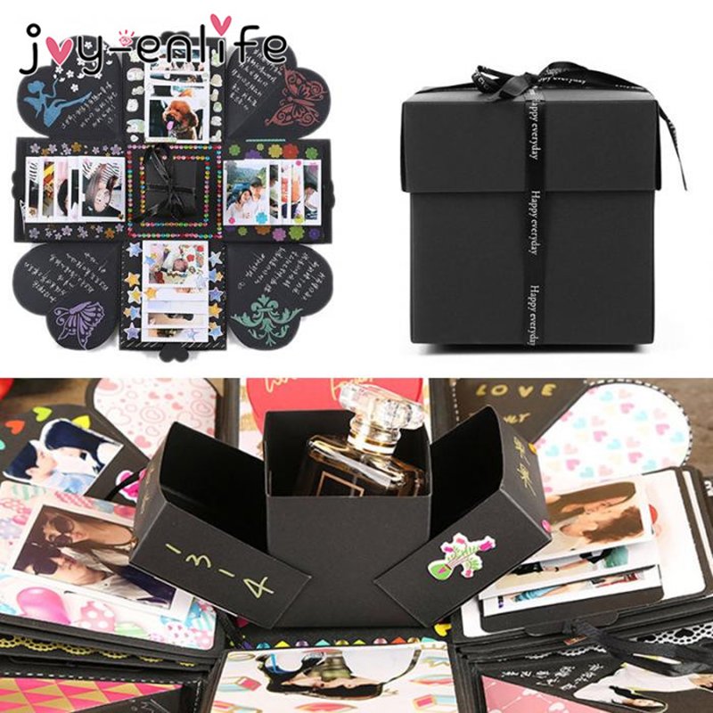JOY-ENLIFE 1set Birthday Party Surprise Gift Box Explosion Surprise Box DIY Scrapbook Photo Album Accessories Kit Birthday Gift