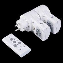 Maif Новый ЕС Plug 2 шт. разъем/уп 230 В-50 Гц 10A удаленного Управление Беспроводной Мощность точек свет переключатель гнездо DC 12 В 23A
