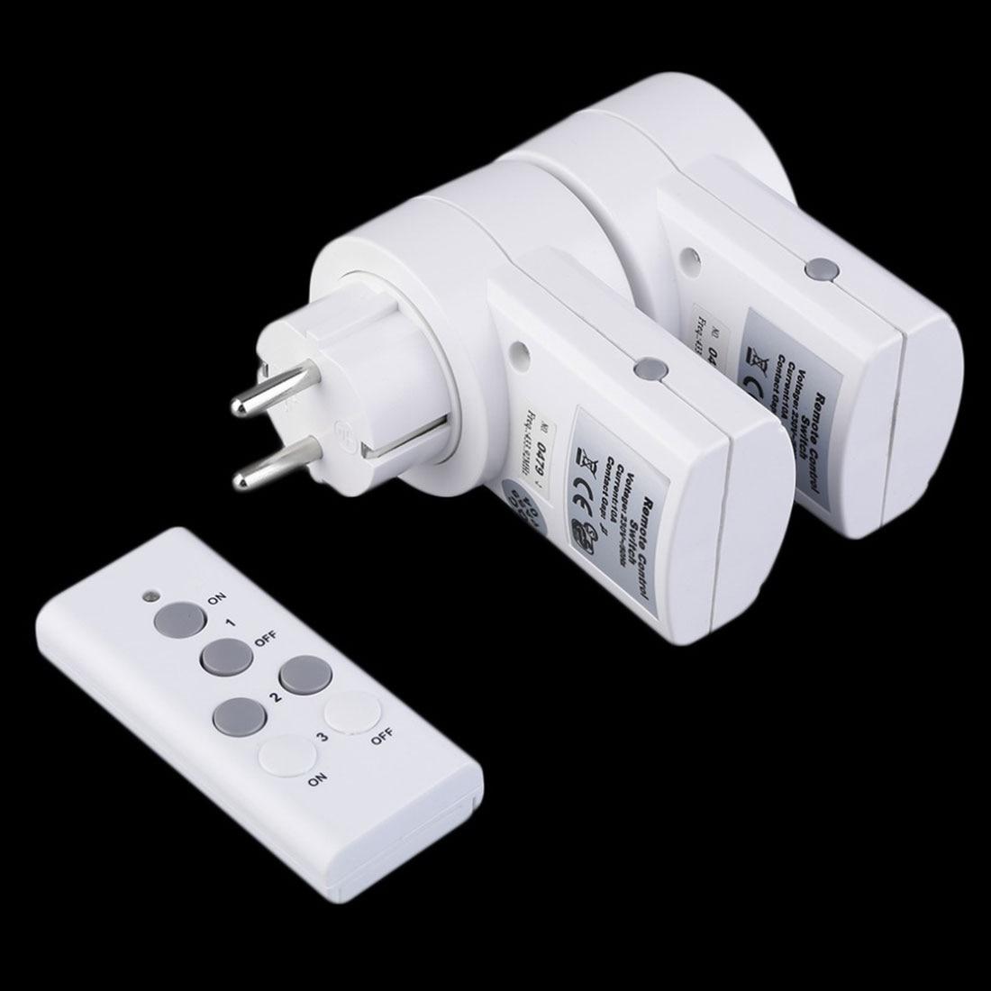 MAIF New EU Plug 2pcs Socket/Pack 230v-50Hz 10A Remote Control Wireless Power Outlets Light Switch Socket DC 12V 23A