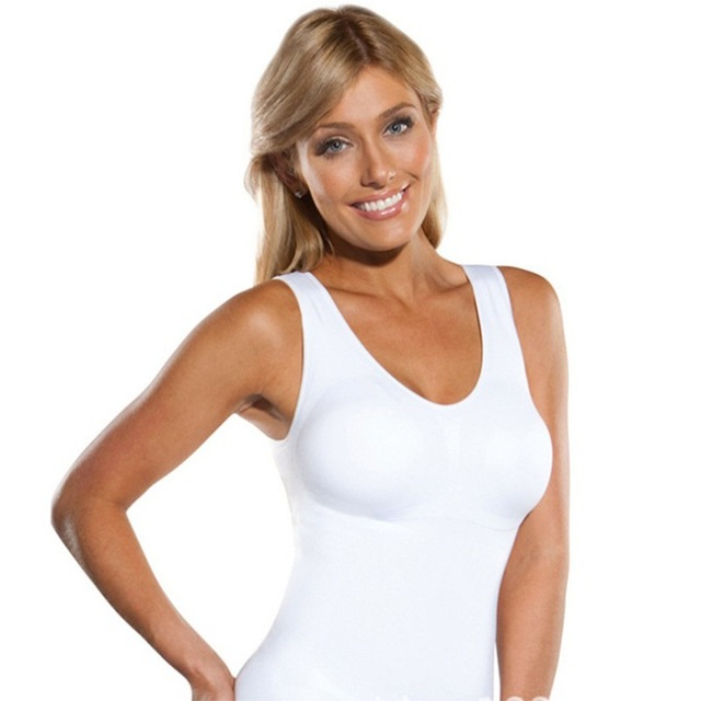 131fd2735140f Hot Shaper Slim Up Lift Plus Size Bra Cami Tank Top Women Body Removable  Underwear Slimming Vest Corset Shapewear Dropshipping