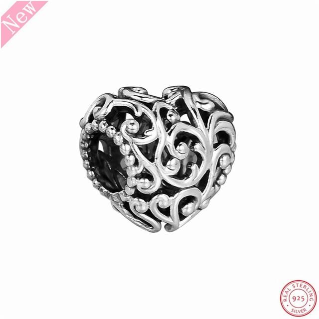 b27e6c804 Popuar 925 Sterling Silver Regal Heart Charm Beads DIY Fit PANDORA Charms  for Women Jewelry Making Royal Tale Enchantment FL813