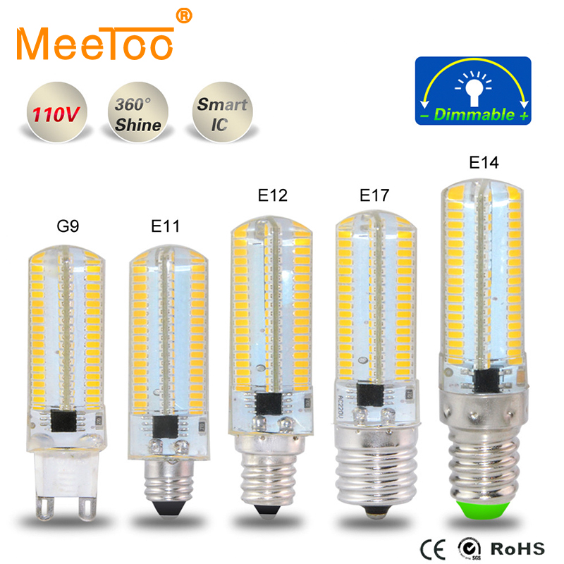 E11 E12 E14 E17 G9 Smd4014 Led Bulb Light 152leds Silicone