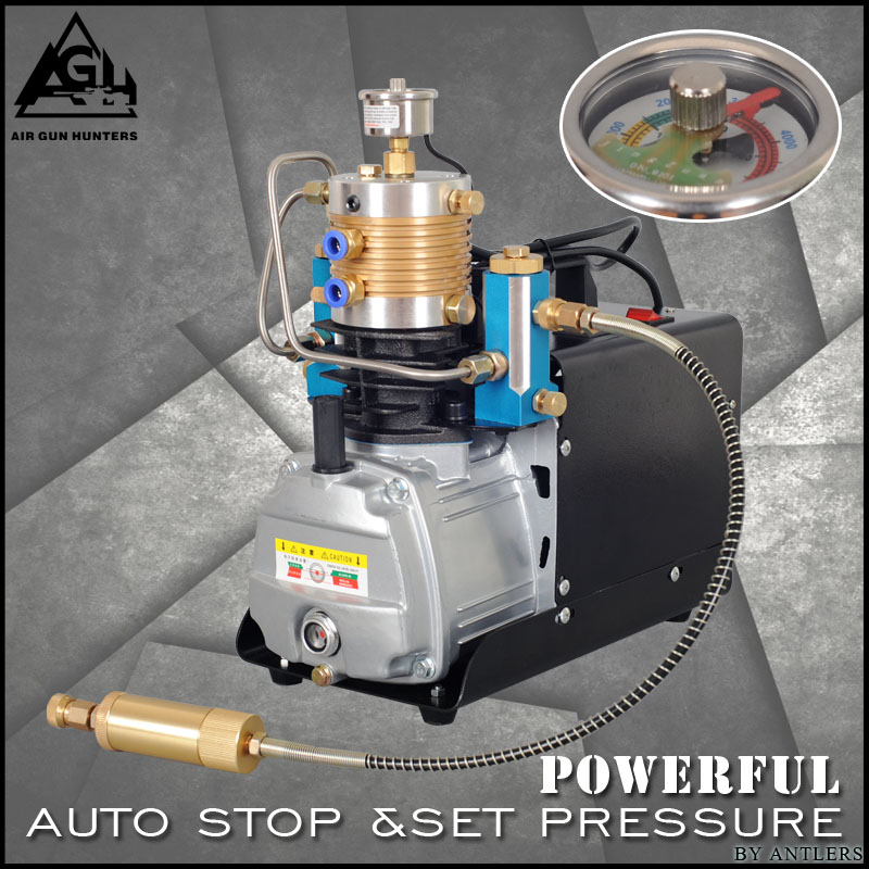 4500PSI High Pressure AUTO STOP Electric PUMP 30MPA PCP air Compressor Air Pump for Pneumatic Airgun Scuba Rifle Gun pcp filter 2 5 inch ring blower air filter for compressor and pump