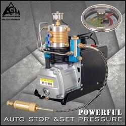 4500PSI bomba eléctrica de parada automática de alta presión 30MPA PCP compresor de aire bomba de aire para pistola de aire neumática Rifle de buceo pcp filtro