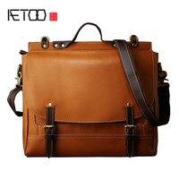Aetoo оригинальный дизайн первый слой кожи сумка ретро тенденции s повседневная кожаная сумка сумки