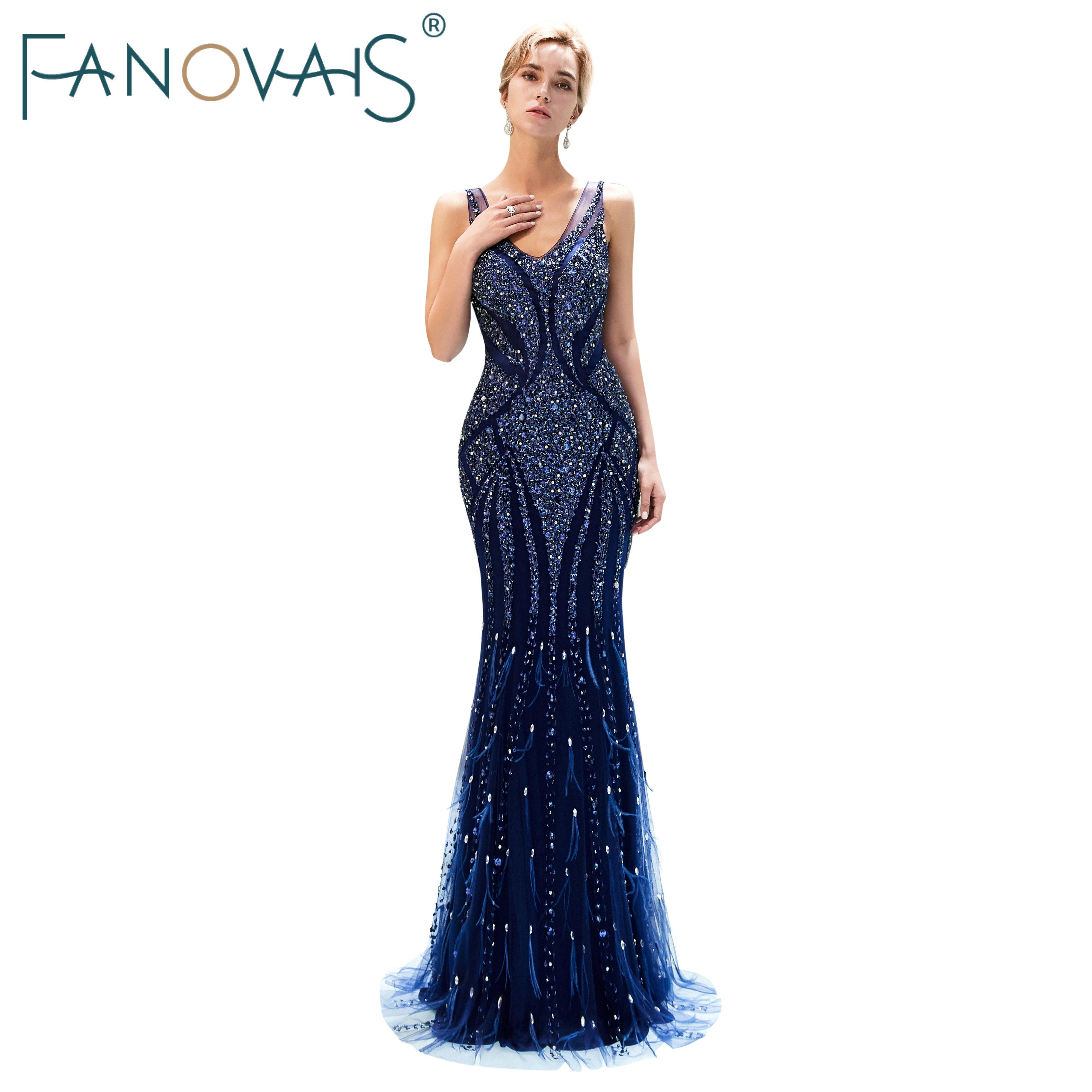 Royal Blue   Evening     Dresses   with Tassels Abendkleider Abiye Gece Elbisesi Formal   Dress   Women Elegant Vestido De Festia Longo