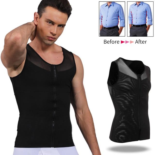 Mannen Afslanken Body Shaper Belly Controle Taille Trainer Man Shapewear Modellering Ondergoed Shapers Corrigerende Houding Vest Corset