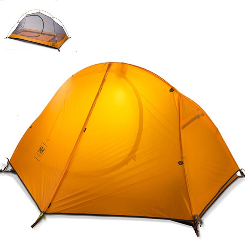 Camping Tent NATUREHIKE ultralight tent 1 person outdoor trekking hiking waterproof tourist tents Single carpas barraca tenda NH high quality outdoor 2 person camping tent double layer aluminum rod ultralight tent with snow skirt oneroad windsnow 2 plus