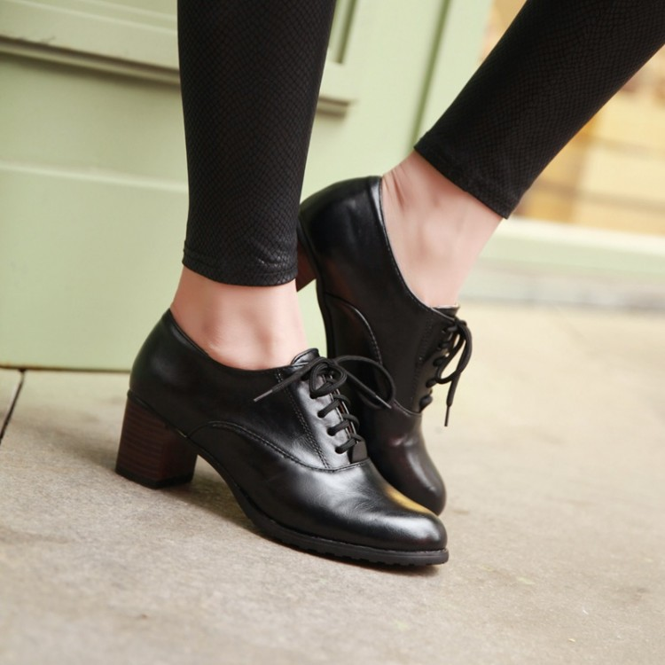 Mid Heel Oxford Shoes