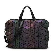 2016  Brand Noctilucent Women Bao Bao Bag High Quality Geometric Handbags Plaid Shoulder Diamond Lattice BaoBao Briefcase Bags