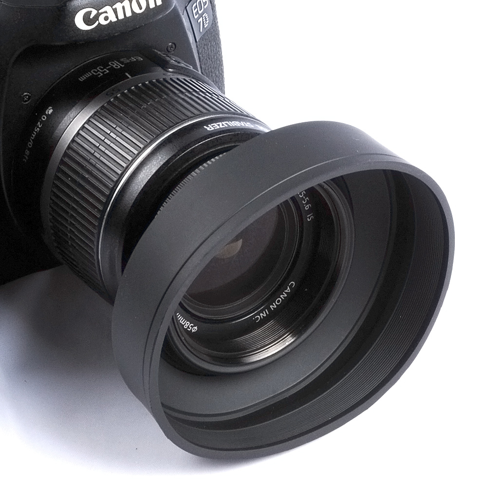 67mm 3 Stage Rubber Lens Hood For Canon Nikon Sony Pentax Olympus DSLR 67mm lens
