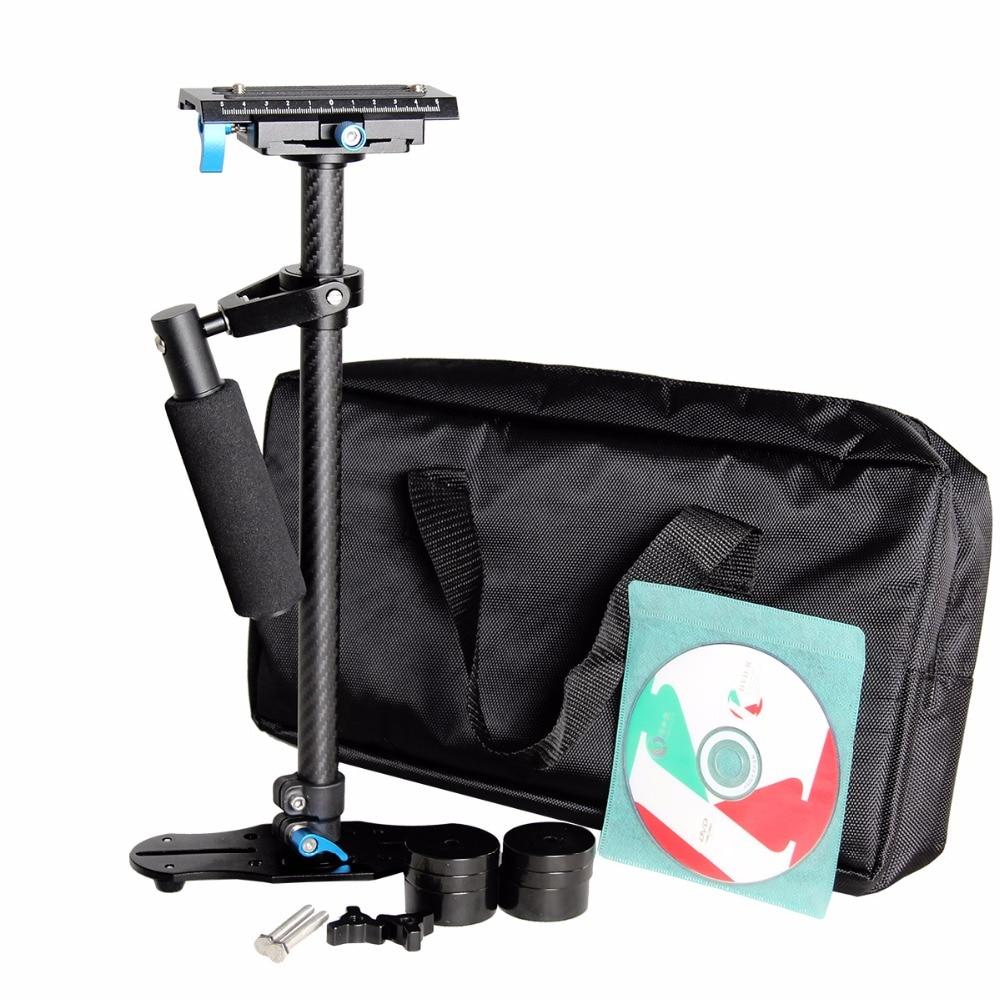 Professional Yelangu S60T Carbon Fiber 60cm handheld steadycam camera stabilizer steadicam Holder For Canon Nikon Sony DSLR