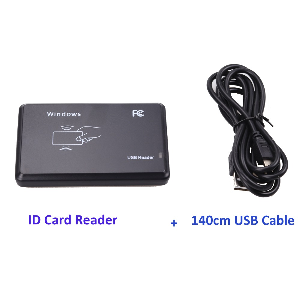 USB Port  EM4001 125khz RFID ID Contactless Sensitivity Smart Card Reader Support Window System(China)