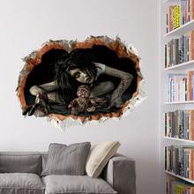 100 шт./партия, перекрестная граница 1499, наклейка на стену на Хэллоуин, спальня, гостиная, украшает стену, штукатурка, водонепроницаемая стена