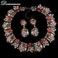 Dvacaman Nova Chegada Conjuntos de Jóias de Luxo Declaração de Moda Boa Qualidade Za Marca Elegante Contas de Cristal Africano Conjuntos de Jóias 9828