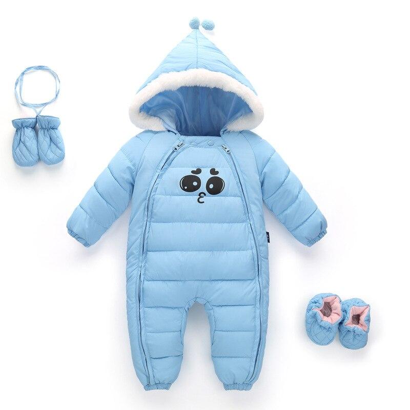 Baby Snow Wear Snowsuit for Kids Newborn Infant Clothing Children's Winter Rompers Baby Boy Girl Unisex Children Winter Jumpsuit коньки детские двухполозные novus snow baby boy aksk 17 10