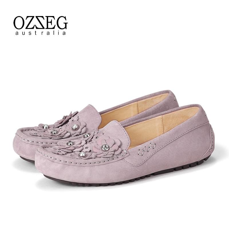 Conduite Femmes En Mocassins Casual Sur Ballet Qualité Loisirs Chaussures Appartements Lavender Glissement Femme Véritable Haute De Cuir Doux fIqw7En
