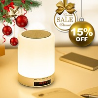 Hot Dimmable Smart LED Desk Lamp Blue Tooth Music Player Touch Dimmer Bedroom Living Room Alam Speaker BT Night Light