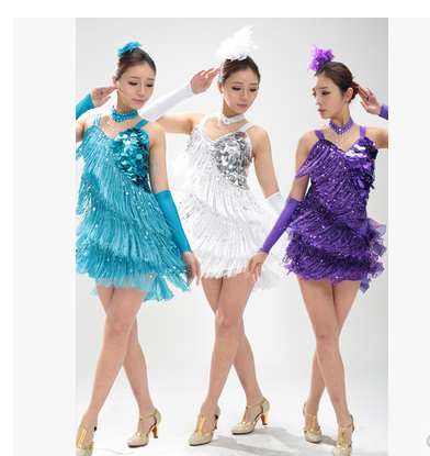 Girl Latin Dance Dresses For Tassel style Cha Cha/Rumba/Samba/Ballroom/Tango Dance Clothing Kids Dance Costume Girls Dancewear 7