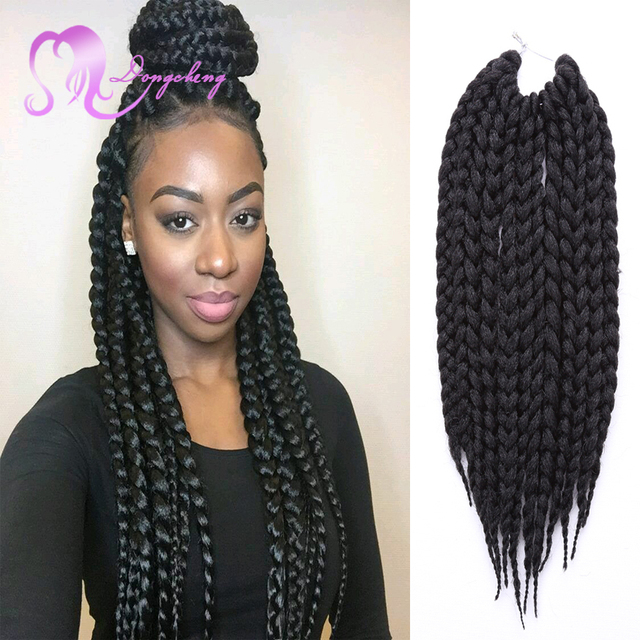 12strands Pack 3s Jumbo Box Braids Synthetic Braiding Hair