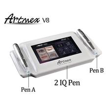 Профессиональная цифровая постоянный тату машинка для макияжа бровей губ Вращающаяся ручка V8 МТС пму Системы с иглы татуировки Artmex V8