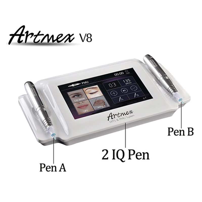 Professional Digital Permanent Makeup Tattoo Machine Eye Brow Lip Rotary Pen V8 MTS PMU System With Tattoo Needle Artmex V8