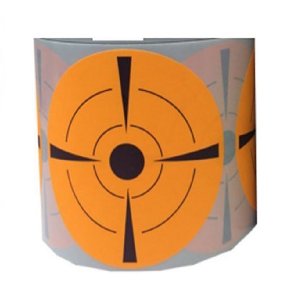 Bullseye Target Stickers (Qty 250pcs 3) Orange Self-Adhesive Targets for Shooting