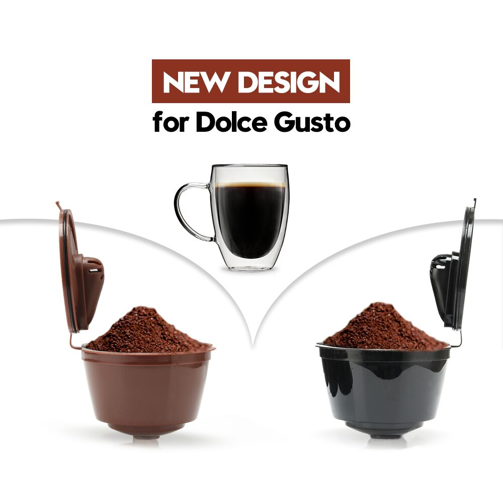3rd Generation Dolce Gusto Coffee Capsule Filters Cup Refillable Reusable Dolci Coffee Dripper Filter Tea Baskets