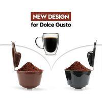 3rd geração dolce gusto café cápsula filtros copo recarregáveis reutilizáveis dolci café dripper filtro de chá cestas Filtros de café     -
